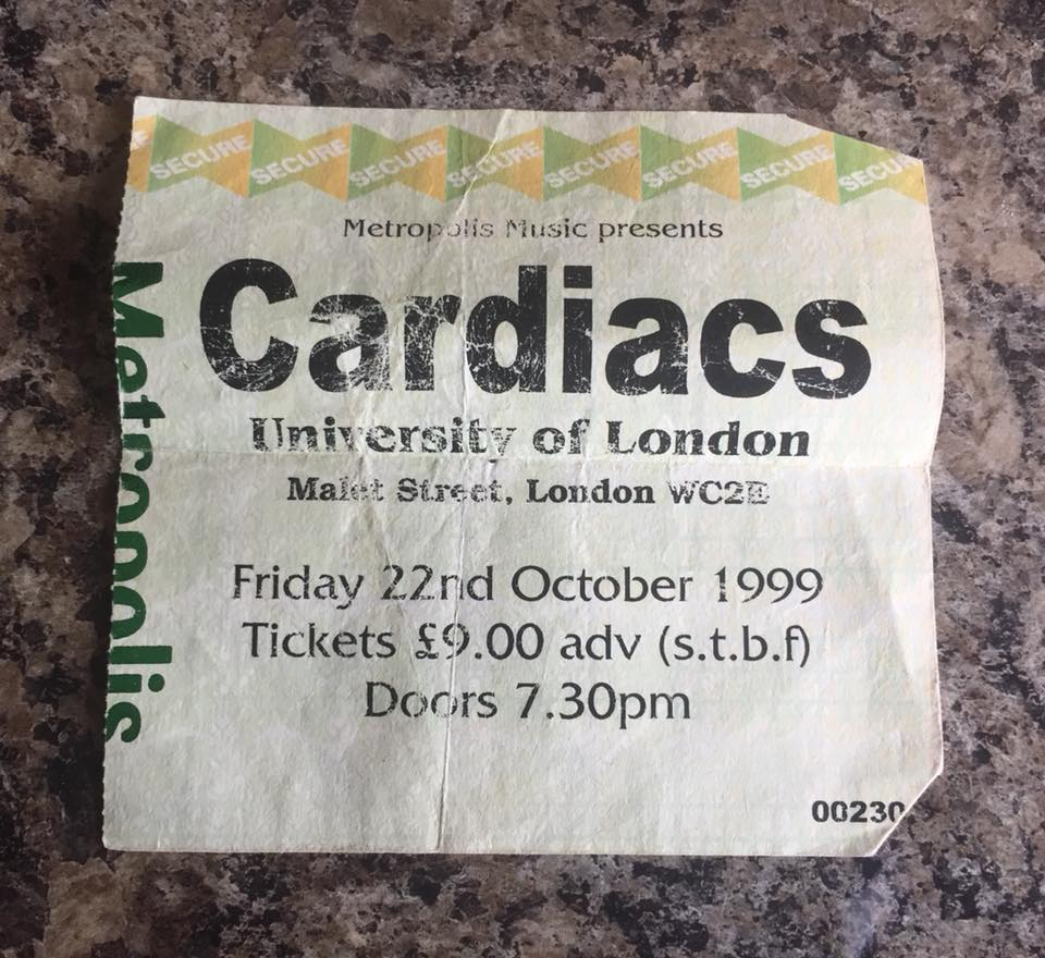 cardiacs ticket uni of london