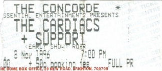 tickets theconcorde 1996